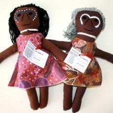 Aboriginal Girl & Elder Set MyFamilyBuilders.com