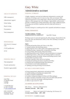 Amazing Administration CV Template, Free Administrative CVs, Administrator Job  Description, Office, Clerical