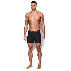 Men's Under Armour 2-pack Original Series 6-inch Boxerjock® Boxer Briefs, Size: Medium, Black