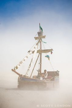 Lady Washington  burning man  background   dust