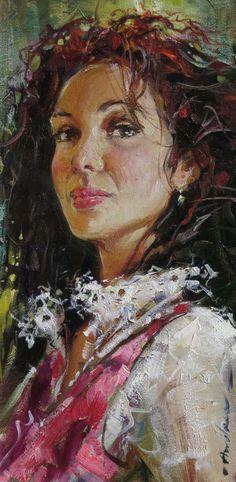 Original Painting, Isabel by Andrew Atroshenko
