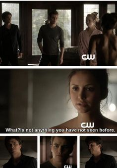 "Elena without her humanity... I can't wait! She's going to have no filter. Can't wait to here what she's really been thinking this entire time. I can't wait for her to say something awesomely awkward like ""Damon is better in bed"". It's going to be soooo fun to watch!"
