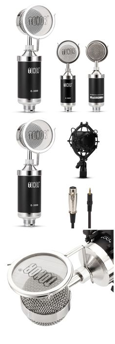 Tonor TN12000480BL XLR Condenser Microphone Black, Style, Black People, Outfits