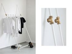 DIY | Clothing Rack, Made From Plumbing Tubes  LOVE AESTHETICS | by Ivania Carpio