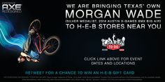 Hey Texas, meet Morgan Wade at your local H-E-B store!  Plus come enter for a chance to win a $25 H-E-B gift card we are giving away! #AxeDareToDo #ad  Details -> http://www.coupondad.net/axe-dare-to-do-event/