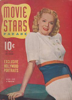 Alice Faye on the April 1941 Movie Stars Parade