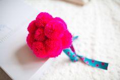 Image by Navyblur. Wedding bouquet. pom pom bouquet