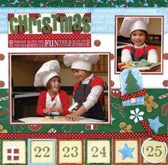 Christmas Fun Homespun Holiday Layout - Scrapbook.com