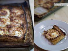 Tarta rápida de mostaza, tomate y queso de cabra. Receta