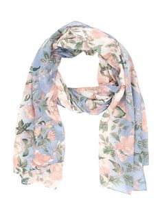 Make a pretty addition to your collection of everyday accessories with this women's botanical floral pashmina carf, featuring an all over print and a lightwe...