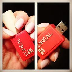 L'Oréal Nail Polish Shaped USB Drive. Not that is Unique.