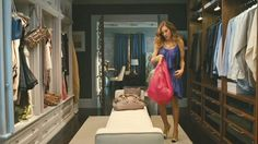 Her and His side Walk-in closet/ Hallway on Sex and The City 2