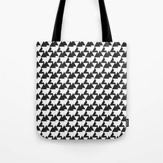 Black Tote Bag Geometric tote bag market shopper tote bag