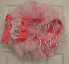 Breast Cancer Awareness Mini Wreath Adoorable Wreaths by Melissa