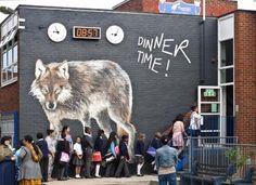 Street Art at Tiverton School, South Tottenham