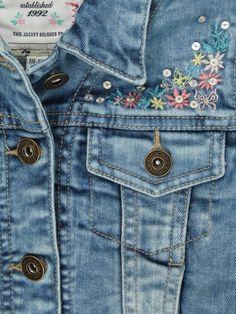 denim jacket details/ embroidery #mywork #fashiondesigner