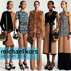 White, black, tan and pool blue: the new neutral from Michael Kors Resort 2014 #fashion #fashionista #fblogger #fashioneditor #miami #nyc #myrtlebeach #medellin where can i find michael kors wallets?