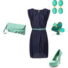Navy Mint, created by angkclaxton on Polyvore