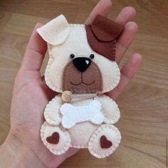 """Куклы и игрушки ручной работы. Ярмарка Мастеров - ручная работа. Купить """"Пёсик"""" игрушка из фетра. Handmade. Мягкая игрушка, собака"""