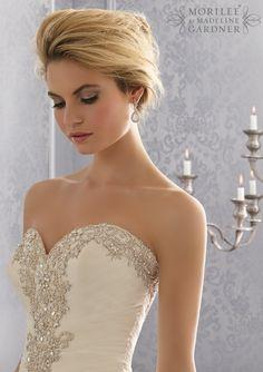 Свадебные платья от Mori Lee По Madeline Gardner стиль одежды 2682 Diamante бисера Вышивка на Тюль свадебное платье