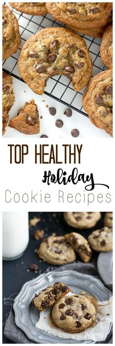 Check out my yummy list of the Top Healthy Christmas Cookie Recipes by my favourite food bloggers (Bakes by Nature and Chelsea's Healthy Apron pictured)!