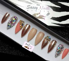 Hey, I found this really awesome Etsy listing at https://www.etsy.com/listing/500751501/sassy-glue-on-nails-peach-nude-rose-gold