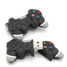 """Clé Usb originale modèle """"Manette de Jeu"""". Interface : USB 2.0 Capacité disponible : 8Go à 14.90€ 16Go à 19.90€ 32Go à 24.90€ 64Go à 29.90€ Peut être effacé"""