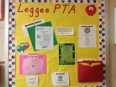 Leggee's PTA Bulletin with my little section for Box Tops.  :)