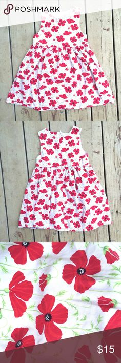 Red Poppy Dress A darling dress for your little sweetie. Casual enough to play in, but dressy enough for a nice occasion. Hidden zipper in back. 100% cotton. Gymboree Dresses