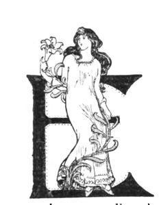 """Lettre E pour Eugène Brieux, représentée dans """" Figures contemporaines tirées de l'Album Mariani"""" pour débuter un chapitre sur l'écrivain et journaliste célèbre pour son oeuvre (surtout théâtrame) qui a exercé une grande influence sur le développement du nouveau style naturaliste. Le #naturalisme est un mouvement #littéraire (vers 1860-1890) basé sur l'#expérience et qui cherche à peindre la réalité en s'appuyant sur un travail minutieux de documentation #numelyo #art #ArtNouveau #lettrine"""