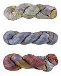 colorsong yarn - featuring Fleece Artist and Hand Maiden yarns