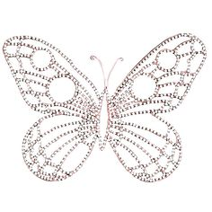 "Jubilee Collection Medium Wire Beaded Butterfly in Pink/White - WA1003 - $39.42 for set of 2 - Features: Beaded butterfly Combination of pink and white Constructed of metal Overall dimensions: 11"" H x 15"" W"