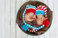 Thing 1 and Thing 2 matching twin newborn photo by pinkladybuggirl, $47.00
