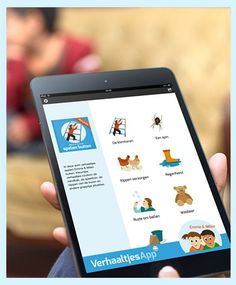 Verhaaltjesapp: Pak je iPad en ga naar http://www.verhaaltjesapp.nl/ Nu gratis te downloaden op je iPad. Met leuke kennismakingsverhaaltjes. Voor papa's, mama's, opa's, oma's en alle anderen die graag hun peuter of kleuter een kort en herkenbaar verhaaltje voorlezen.