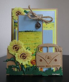 Marianne Design, Vw Camper, Vw Bus, Masculine Cards, Hobbies And Crafts, Beautiful Flowers, Balloons, Blog, Cool Stuff