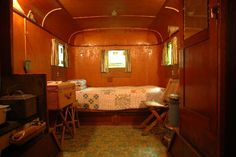 1934 home made travel trailer.  So adorable.  I live in that.