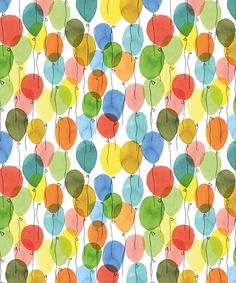 Color full of balloons