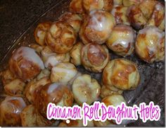 This Southern Girls Nest: Cinnamon Roll Doughnut Holes