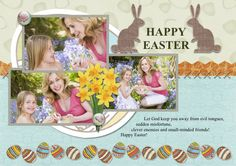 Say Happy Easter with your custom  #eastercard.