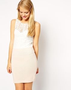 ASOS Co-ord Dress With Knitted Skirt And Lace Top