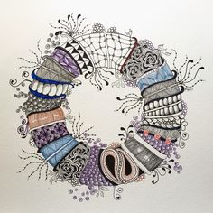 Zentangle: Stacked and Tangled, Alice Hendon, The Creator's Leaf, www.thecreatorsleaf.com