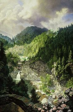 Linville Falls, North Carolina, USA