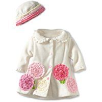 Bonnie Baby Girls' Fleece Coat And Hat Set
