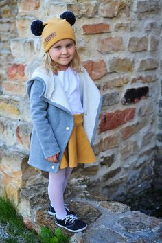Warme Kinderjacke in grau / cozy jacket for kids by Bubalove via DaWanda.com