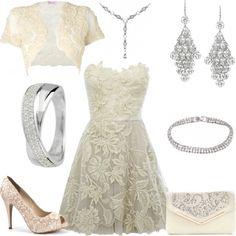 lace dress styled on Fantasy Shopper