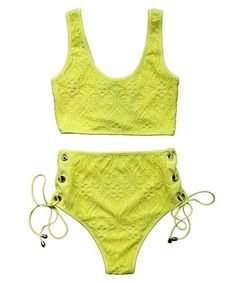 ddac850306 Women's Plus Size Cutout High Waist Criss Cross Flounce Falbala Bikini  Bathing Set - Multi 1 - CQ1808MR998