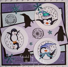 LOTV - Penguin Trio with Snow Princess Paper Pad by Marianne FIsher