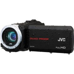 JVC EVERIO GZ-R10 QUAD-PROOF HD PAL BLACK CAMCORDER  DESCRIPTION The GZ-R10 Quad-Proof HD Camcorder from JVC is designed to combine the ruggedness of many of your typical action cameras with features, such as a zoom lens and flip-out LCD, more commonly found on camcorders. To justify being dub...