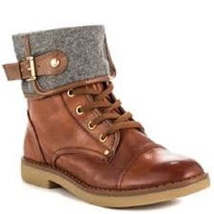 New Tommy Hilfiger Brown Lace Up Leather Nahla Fold Over Cuff Ankle Boots Size 8 #TommyHilfiger #CombatBoots #Casual