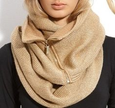 Metallic zipper infinity scarf by Michael Kors. (i want this in everycolor) Looks Style, Style Me, Diy Fashion Projects, Craft Projects, Diy Accessoires, Inspiration Mode, Love Fashion, Fashion Design, Neck Warmer